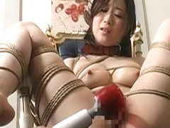 Hot Asian babe gets stripped and led like a dog on a leash