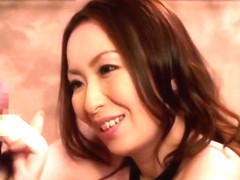Godly busty Japanese MILF Aoi Aoyama is giveing a friendly blowjob