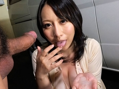 Hot Yuna Hoshizaki Gets Cum In Her Mouth - JapanHDV