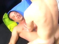Muscled daddy banging his twink friend in the asshole