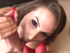Katie Bank is doing a blowjob and much more