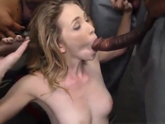 Ho creampied by black rod