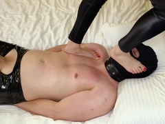 Femdom Foot Trampling | Little Foot Princess