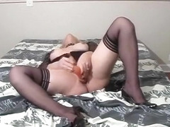 Exotic Homemade Shemale movie with Big Tits, Dildos/Toys scenes