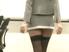 Hottest Japanese slut Ruka Ichinose in Crazy Stockings, Office JAV scene