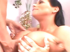 Busty Milf Gets Balled In Her Pink Cunt And Strokes Him With Her Tits
