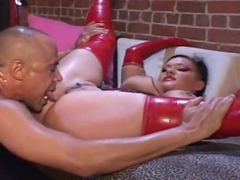 Big tit Anna Rose fucked in Latex