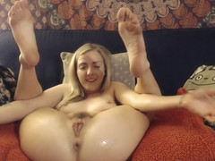 Karla Kush Squirting Anal Orgasm from Home