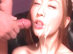 Erena Aihara takes off her sexy pink lingerie and tastes a sp