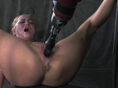 Roxy Rox - Bound and drilled down by relentless fucking machine, hardcore blowjobs, multiple orgas.