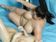 Huge Wrestling Bbw Bounces On Cock
