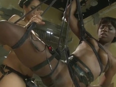 BDSM porn video featuring Ana Foxxx and Isis Love