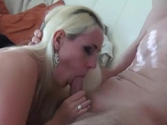 Delightful yellow-haired young whore Dani Desire is sucking dick