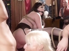 Pale slave and her friends fucking orgy