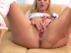 Cherry Kiss takes a huge load to her face