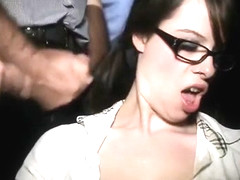Bukkake sex cinema slut