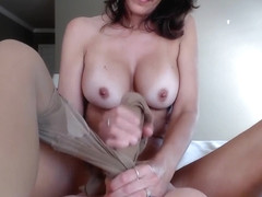 JessRyan Sheer Pantyhose Striptease And Dildo Fun in private premium video