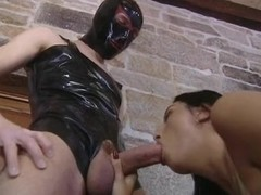 Eva Black aka Mercedes gets double penetrated and facialized