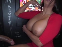 Milf Against Four Cocks in the Booth