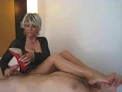 Lady Barbara face sitting and jerking off a ramrod