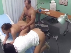 Hot doctor cums again and again
