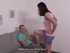 Make Him Cuckold - Aruna Aghora - Another guy makes his wife cum