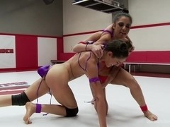 Mouthy Brat Wrestlers go at it to impose Sexual Dominance on each other