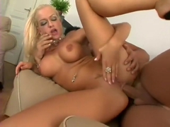 Wild blonde with big tits and hot legs Stacy Silver needs to get fucked