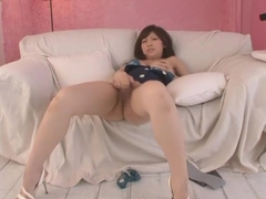 Horny Japanese chick Harumi Asano in Fabulous Amateur, Solo Female JAV clip