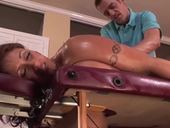 Eva Notty gets oiled up before slamming
