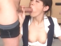 Horny Japanese model Hikaru Ayuhara in Exotic Close-up, Blowjob JAV movie