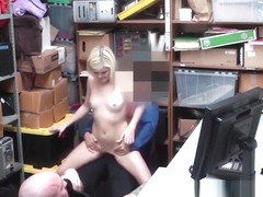 Amateur thief gets facial after getting fucked and sucking