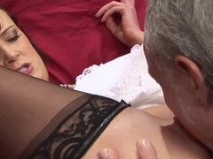 Ben Dover films sexy Tanya Cox while she blows his dong