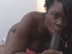 Chubby black babe Samone Taylor sucks and rides a BBC