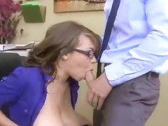 Sexy Horny Girl (cassidy banks) With Big Tits Riding Cock In Office movie-08