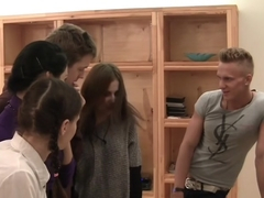 Elizabeth & Kamila & Marya & Sabina Gruda & Tanata in an in-love couple of naked students having s.