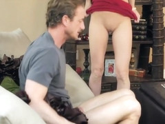While wife in the store, Mature man banged titted mistress cock in tha...