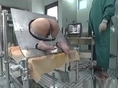 Milf Bound In A Machine And Takes An Enema In Her Ass