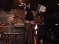 Jeny Smith drives a Moscow bar crazy dancing naked to the music