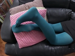 Bratty Penny Lee Ignores You As You Stare At Her Pantyhose