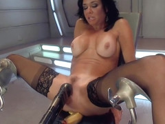 BigTitted, Squirter, Milf, Veronica Avluv, Gets Anal Machine