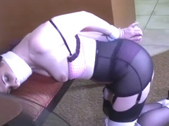 STEP MOM (CAROLINE PIERCE) ALL TIED UP & GAGGED!