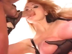 Taylor Wane BIG Tits Femdom Blow & Hand-job Sheer gloves