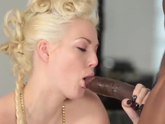 Blonde Jenna Ivory Blowing Dick And Taking On Strong Bbc