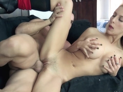 The sexiest blonde Samantha Nixon fucked hard