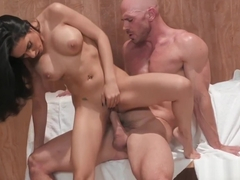 Tia Cyrus Fucks With Johnny Sins In the Sauna