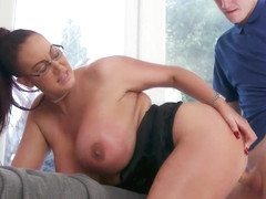 Big Tit Step-Mom Gets a Massage