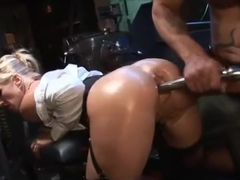 Rebecca Moore and Scarlet t March Trapped in Bodyshop
