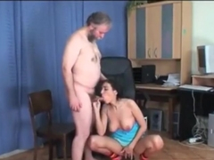 Hot young Angel fucked by dirty old Pavel Terrier