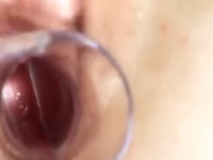 Erotic Girl Is Gaping Slim Cunt In Close Range And Getting O